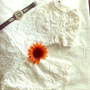 White Lacy Mini Dress 🌻